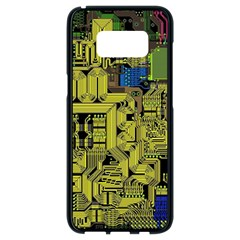 Technology Circuit Board Samsung Galaxy S8 Black Seamless Case by Sapixe