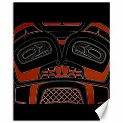 Traditional Northwest Coast Native Art Canvas 11  X 14   by Sapixe