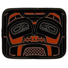 Traditional Northwest Coast Native Art Netbook Case (xxl)  by Sapixe