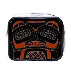 Traditional Northwest Coast Native Art Mini Toiletries Bags by Sapixe