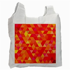 Triangle Tile Mosaic Pattern Recycle Bag (one Side) by Sapixe