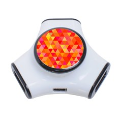 Triangle Tile Mosaic Pattern 3 Port Usb Hub by Sapixe