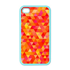 Triangle Tile Mosaic Pattern Apple Iphone 4 Case (color)