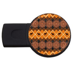 Traditiona  Patterns And African Patterns Usb Flash Drive Round (4 Gb) by Sapixe