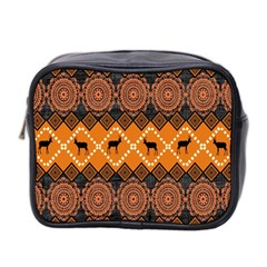 Traditiona  Patterns And African Patterns Mini Toiletries Bag 2 Side by Sapixe