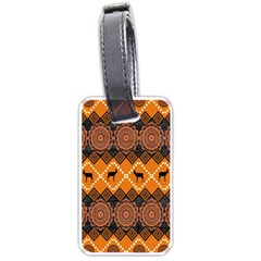Traditiona  Patterns And African Patterns Luggage Tags (two Sides) by Sapixe