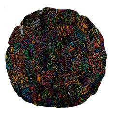 Trees Internet Multicolor Psychedelic Reddit Detailed Colors Large 18  Premium Round Cushions by Sapixe