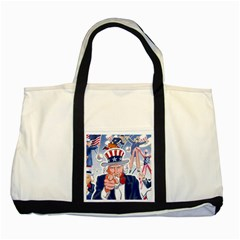 United States Of America Celebration Of Independence Day Uncle Sam Two Tone Tote Bag by Sapixe