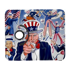 United States Of America Celebration Of Independence Day Uncle Sam Galaxy S3 (flip/folio) by Sapixe