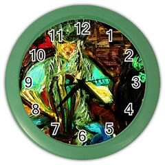 Girl In The Bar Color Wall Clocks by bestdesignintheworld