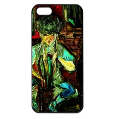 Girl In The Bar Apple Iphone 5 Seamless Case (black)