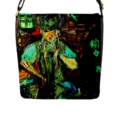 Girl In The Bar Flap Messenger Bag (l)