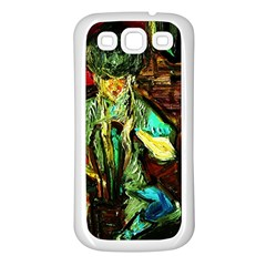 Girl In The Bar Samsung Galaxy S3 Back Case (white)