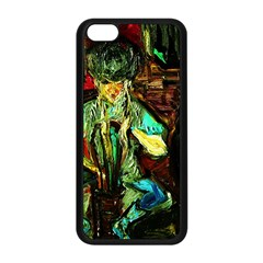 Girl In The Bar Apple Iphone 5c Seamless Case (black)