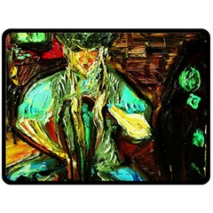 Girl In The Bar Double Sided Fleece Blanket (large)