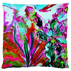 Desrt Blooming With Red Cactuses Large Cushion Case (two Sides) by bestdesignintheworld