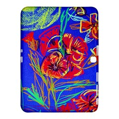 Red Poppies Samsung Galaxy Tab 4 (10 1 ) Hardshell Case  by bestdesignintheworld
