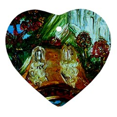 Dscf3179   Royal Marine And Stone Lions Heart Ornament (two Sides)