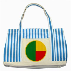 Air Force Roundel Of Benin Striped Blue Tote Bag by abbeyz71