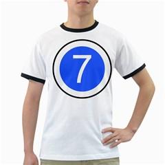 Trans–west African Coastal Highway Shield Ringer T Shirts by abbeyz71