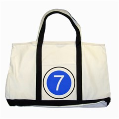 Trans¨cwest African Coastal Highway Shield Two Tone Tote Bag by abbeyz71