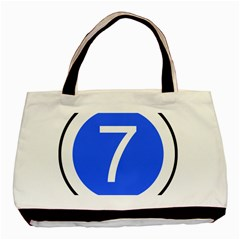 Trans–west African Coastal Highway Shield Basic Tote Bag (two Sides) by abbeyz71