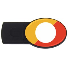 Bhutan Air Force Roundel Usb Flash Drive Oval (4 Gb) by abbeyz71