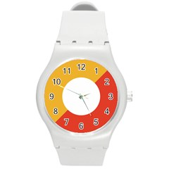 Bhutan Air Force Roundel Round Plastic Sport Watch (m) by abbeyz71