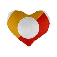 Bhutan Air Force Roundel Standard 16  Premium Flano Heart Shape Cushions by abbeyz71