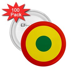 Roundel Of Bolivian Air Force 2 25  Buttons (100 Pack)  by abbeyz71