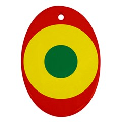 Roundel Of Bolivian Air Force Oval Ornament (two Sides) by abbeyz71