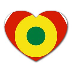 Roundel Of Bolivian Air Force Heart Mousepads by abbeyz71