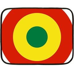Roundel Of Bolivian Air Force Double Sided Fleece Blanket (mini)  by abbeyz71