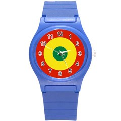 Roundel Of Bolivian Air Force Round Plastic Sport Watch (s) by abbeyz71