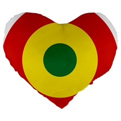 Roundel Of Bolivian Air Force Large 19  Premium Heart Shape Cushions by abbeyz71