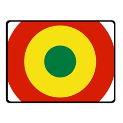 Roundel Of Bolivian Air Force Double Sided Fleece Blanket (small)  by abbeyz71