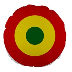 Roundel Of Bolivian Air Force Large 18  Premium Flano Round Cushions by abbeyz71