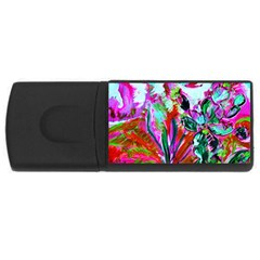Dscf1472   Copy   Blooming Desert With Red Cactuses Rectangular Usb Flash Drive by bestdesignintheworld