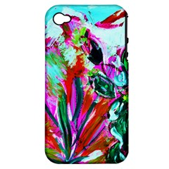 Dscf1472   Copy   Blooming Desert With Red Cactuses Apple Iphone 4/4s Hardshell Case (pc+silicone) by bestdesignintheworld