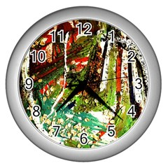April      Birds Of Paradise Wall Clocks (silver)