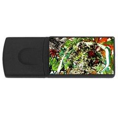 April   Birds Of Paradise 5 Rectangular Usb Flash Drive by bestdesignintheworld