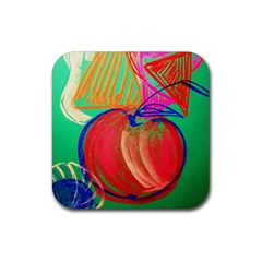 Dscf1425 (1)   Fruits And Geometry 2 Rubber Square Coaster (4 Pack)  by bestdesignintheworld