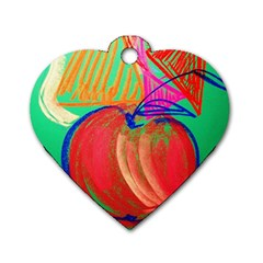 Dscf1425 (1)   Fruits And Geometry 2 Dog Tag Heart (two Sides) by bestdesignintheworld