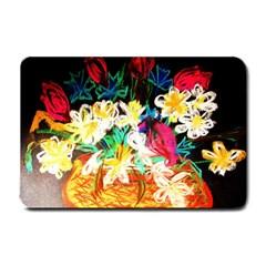 Dscf1390   Basket Flowers Small Doormat  by bestdesignintheworld