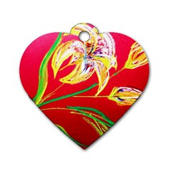 Dscf1393   Tender Bright Lillies Dog Tag Heart (two Sides) by bestdesignintheworld