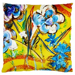 Dscf1422   Country Flowers In The Yard Large Cushion Case (two Sides) by bestdesignintheworld