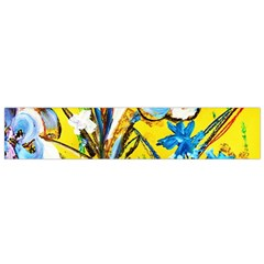 Dscf1422   Country Flowers In The Yard Small Flano Scarf by bestdesignintheworld