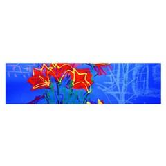 Dscf1433   Red Lillies Satin Scarf (oblong) by bestdesignintheworld