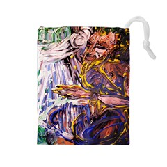 Dscf1627   Old Harpist Drawstring Pouches (large)  by bestdesignintheworld