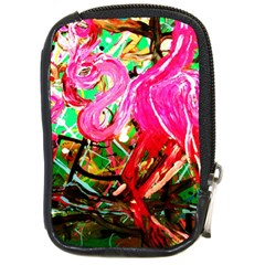 Dscf2035   Flamingo On A Chad Lake Compact Camera Cases by bestdesignintheworld